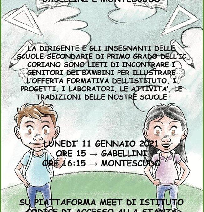 Open days: Scuole Secondarie di primo grado M. Gabellini e Montescudo
