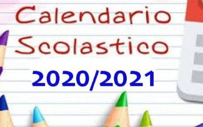 Calendario Scolastico a.s. 2020/2021