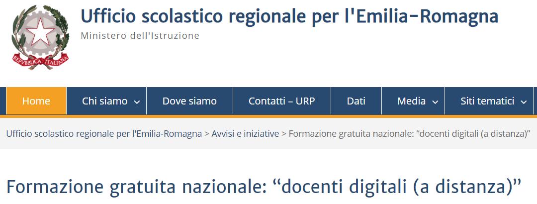 """Formazione gratuita nazionale: """"docenti digitali (a distanza)"""""""