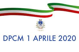 DPCM 1 aprile 2020