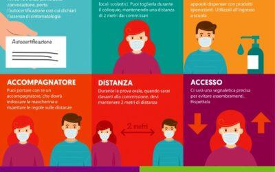 Autodichiarazione per l'accesso ai locali dell'istituto scolastico durante gli esami conclusivi