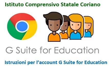Istruzioni per accedere all'account istituzionale della piattaforma G-Suite for Education