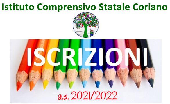 Iscrizioni alle scuole dell'infanzia e alle scuole di ogni ordine e grado per l'a.s. 2021/2022