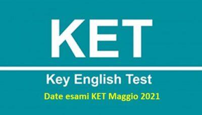 Certificazione KET 2021: date esami