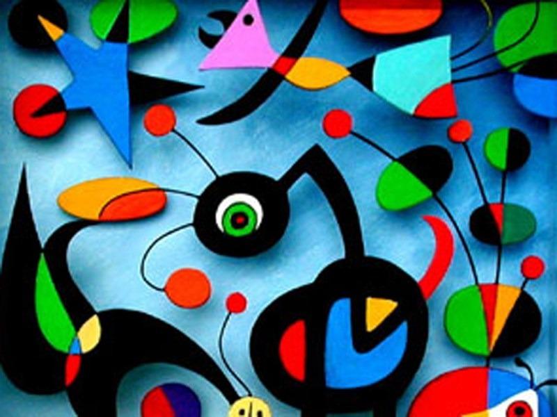 """Mostra sul laboratorio """"In viaggio tra emozioni e conoscenza… La magia dei colori, delle linee, forme e sculture nelle opere del pittore Joan Mirò"""""""