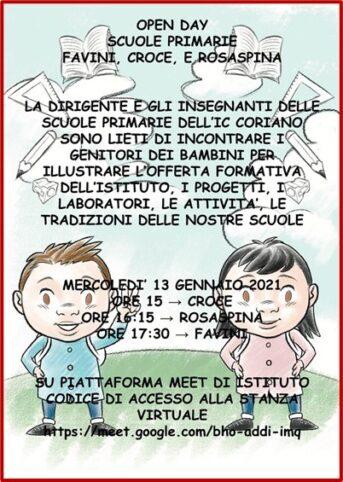 Open days: Scuole Primarie Favini, Croce e Rosaspina