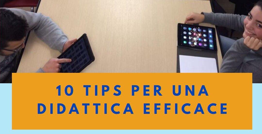 Protetto: 10  tips  per  una didattica efficace