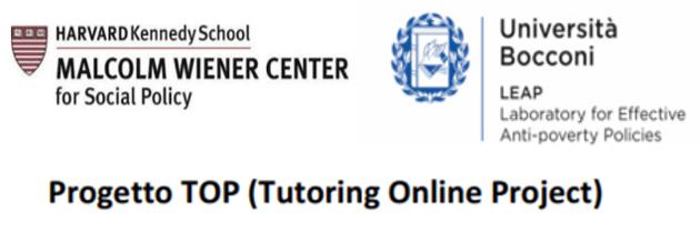 Progetto TOP (Tutoring Online Project) – Università Bocconi e Harvard University